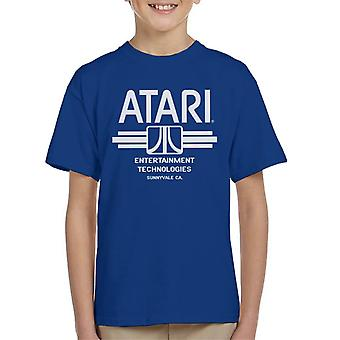 Atari Entertainment Technologies Logo Beyaz Çocuk's T-Shirt