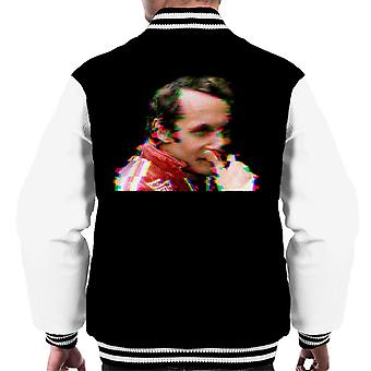 Motorsport Bilder Niki Lauda Deutscher GP 1976 Glitch Effect Men's Varsity Jacke