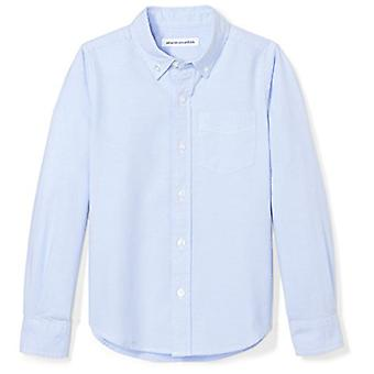 أساسيات ليتل بويز و apos؛ طويل الأكمام موحد قميص أكسفورد، الأزرق، S (6-7)