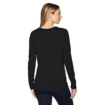 Essentials Women's Lightweight Crewneck Sweater, -zwart, X-Small