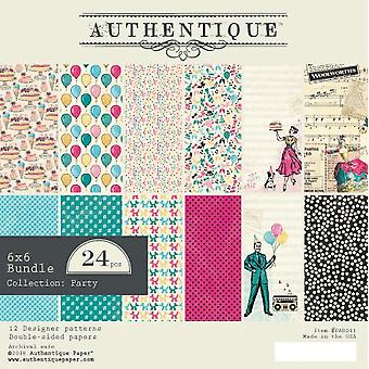 Authentique Party 6x6 pulgadas De papel Pad