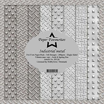 Paper Favourites Industrial Metal 6x6 Inch Paper Pack