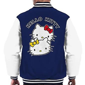 Hello Kitty And Mimmy Character Heads Men's Varsity Jacket
