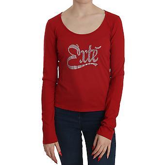 Red Crystal verfraaid long sleeve blouse - TSH3742768