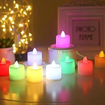 Creative Led Multicolor Candle Lamp Simulation Color Flame Tea Light Home,