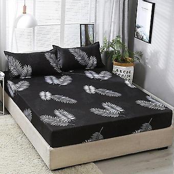هندسية المطبوعة المجهزة ورقة مرنة سرير أغطية البوليستر غطاء مع