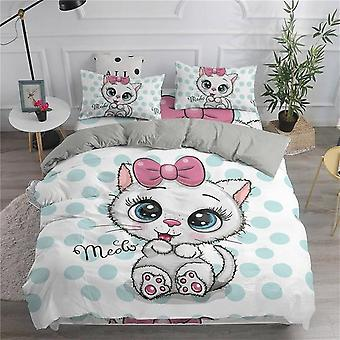 Cute Cats Printed 3d Duvet Cover And Pillow Case Bedding Set