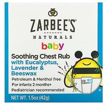 Zarbee's, Baby, Soothing Chest Rub with Eucalyptus, Lavender & Beeswax, 1.5 oz (