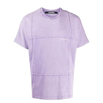 Jacquemus 206js1820622465a Men's Purple Cotton T-shirt