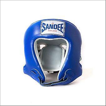 Sandee open face head guard - blue