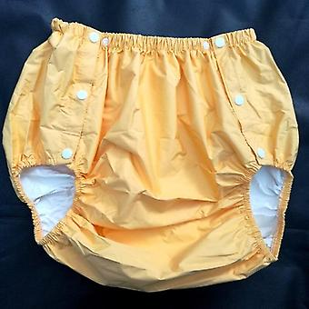 Yellow  Size L Part Safety Trousers/ Physiological Pants/adult Diaper