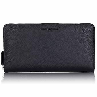 Slate Grey Richmond Leather Travel Wallet