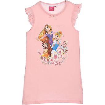 Girls ET2128 Disney Princess Short Sleeve Nightdress / Pyjama