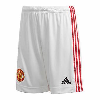 2020-2021 Man Utd Adidas Home Shorts Alb (Copii)