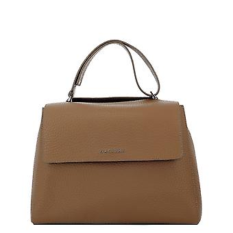 Orciani Bt2006softcaramello Women's Brown Leather Handtas