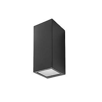Forlight Cube - 2 Light Outdoor Wandleuchte Schwarz IP44