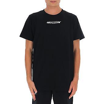 Off-white Omaa027e20jer0041001 Män's Svart Bomull T-shirt