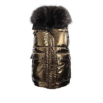 Yves Salomon 21wfg04677a11gb2200 Women's Gold Polyester Vest