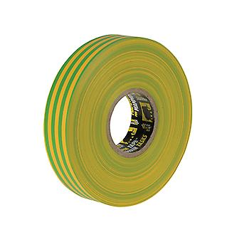 Everbuild Electrical Insulation Tape Yellow/Green 19mm x 33m EVB2ELECYLGN