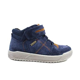 Superfit Earth 009059-80 Navy Suede Leather Boys Wide Fit Ankle Boots