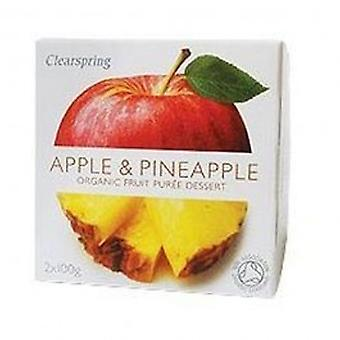 Clearspring - Fruit Puree Apple/Pineapple 2 X 100g