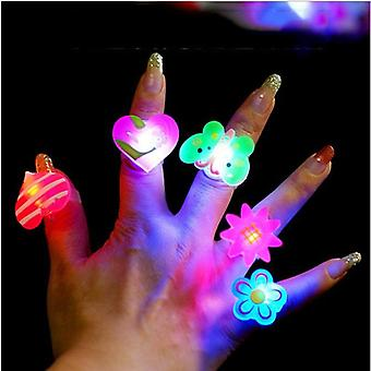 Flash Led Rings - Luminous, Glow In The Dark  Lights