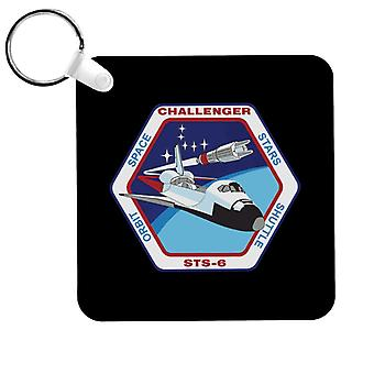 NASA STS 6 Space Shuttle Challenger Mission Patch Keyring