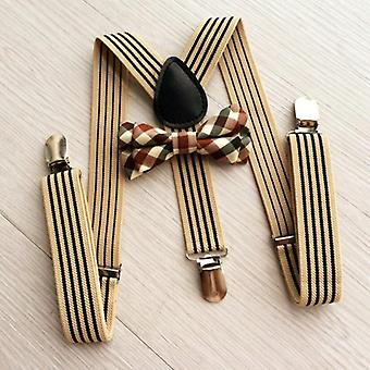 Baby Girls Boys Clothes Accessories British Style Kids Striped Strap + Plaid