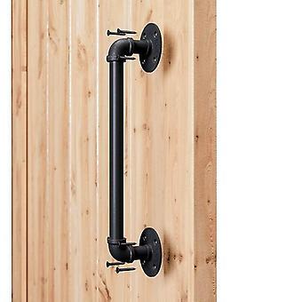 15 tuuman putkiteollinen tyyli, musta ladon ovenkahva liukuvaan ladon oveen