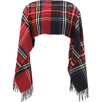 Comme Des Garçons Shirt W28200red Men's Multicolor Wool Scarf