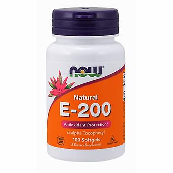 Now Foods Vitamin E, 200 IU, 100 Softgels