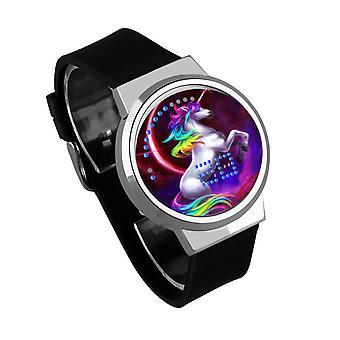Impermeable Luminoso LED Digital Touch Reloj - Licorne #12