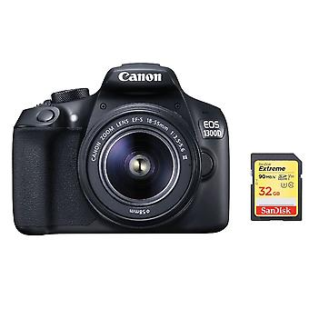 CANON EOS 1300D KIT EF-S 18-55mm F3.5-5.6 III + Carte SD 32G