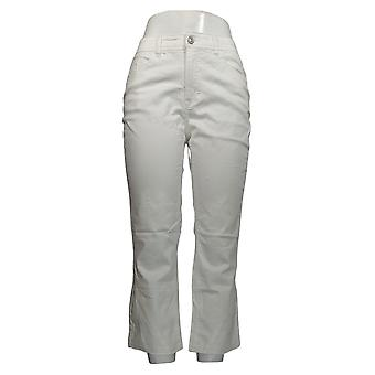 Lisa Rinna Collection Women's Jeans Cropped Flare White A351374