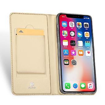 """מגן עור עבור אפל iPhone XIR 6.1"""" זהב DUX DUCIS-78"""