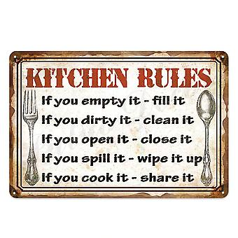 Kitchen Metal Sign Plaque For Wall Decor