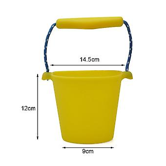 Children Beach Silicone Folding Hand Bucket For Bath Sand Play Toys
