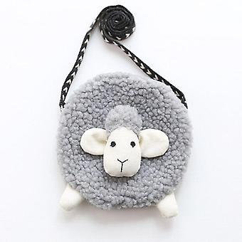 3d Fur Sheep Tvar Crossbody Bag