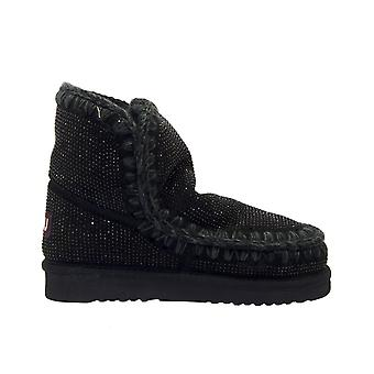 Mou Esk18fulltonhotf Women's Black Leather Ankle Boots