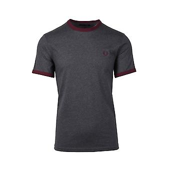 Fred Perry Ringer T-paita Graphite Marl