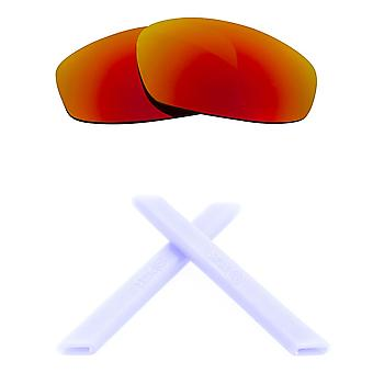 Ersatz Linsen & Kit für Oakley Split Jacke red Mirror & White Anti-Scratch Anti-Glare UV400 von SeekOptics