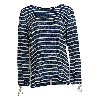 Belle Beach by Kim Gravel Women's Top Active French Terry Blue A380216