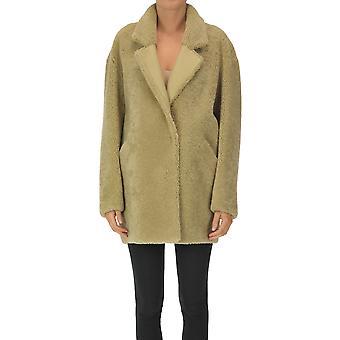 Sprung Frères Paris Ezgl590004 Women's Green Leather Coat