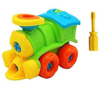Puslespil blokke plast indsætte tog, helikopter form legetøj