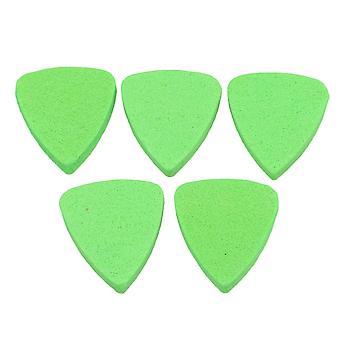 Guitar Felt Picks Plectrums Green pour Ukulele Bass Pack of 5