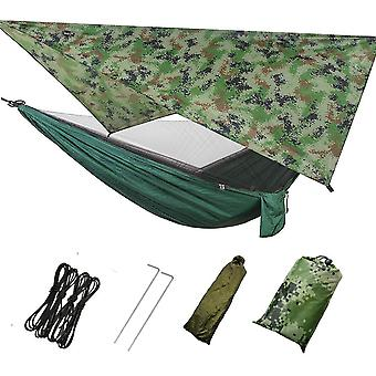 Set Of Outdoor Camping Hammock, Mosquito Net And Sun Shelter Fly Tent Tarp