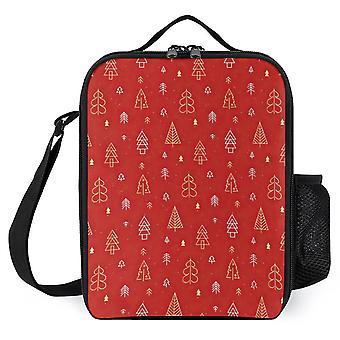 Karácsonyfa minta nyomtatott ebéd táskák
