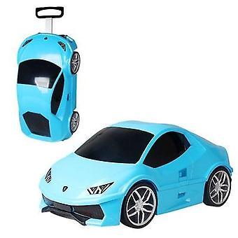 Kids Rolling Luggage Baby Sports Car Toy Travel Luggage Drag Box Wheeled Travel