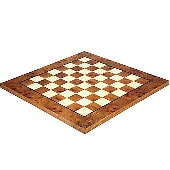 16.75 tommer Briarwood og Elmwood luksus skakbræt