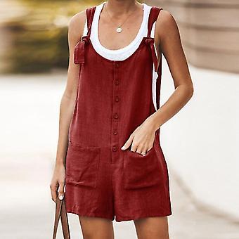 المرأة رومبر الصيف مثير بلا أكمام حزام سراويل عارضة